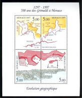 Monaco  Yv  BF 76 **  Evolution Géographique Du Territoire De La Principauté - Géographie