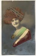 Carte à Cheveux Très Belle Femme Cheveux Veritable  Diademe Argent Et Saphir - Cartoline
