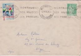 FRANCE 1938 LETTRE DE MONTAUBAN VIGNETTE TUBERCULOSE - Brieven En Documenten