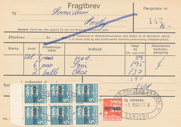 FRAGTBREV / ESBJERG - 1976 , Paketmarken , Postfaerge - Parcel Post