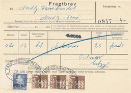 FRAGTBREV / ESBJERG - 1975 , Paketmarken , Postfaerge - Parcel Post