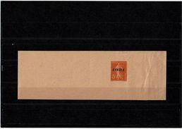 CTN52 - FRANCE BJ SEMEUSE CAMEE 5c SD SURCHARGE ANNULE - Newspaper Bands