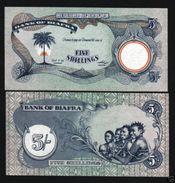 Biafra 5 Shillings (1968-69)  Pick 3b UNC - Billets