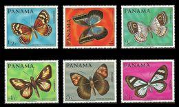 PANAMA 1968 BUTTERFLIES SINGLE SET MNH - Panama
