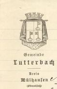 Héraldique LUTTERBACH 1918 - Documents Historiques