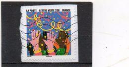 FRANCE   Lettre Verte 20 G     2015   Y&T: 1194   Adhésif   Sur Fragment Oblitéré - France