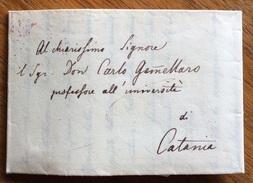 ZOOLOGIA BOTANNICA LETTERA AUTOGRAFA DI Rodulfo Amando Philippi A Carlo Gemellaro  UNIVERSITA' DI CATANIA DEL 1/4/1832 R - Autografi