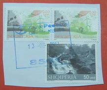 13 - 2 - 2017 ALBANIAN STAMPS, THINK GREAN, MOUNTAIN TOURISM Postmark KUKES ON PIECE OF ENVELOPE. - Albania
