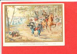 Bataille De BORNY 14/8/1870   Carte Animée Le Général DECAEN Mortellement Bléssé                Illustrée Par G GERMAIN - Other Wars