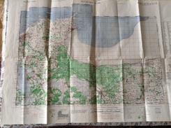 DOL DE BRETAGNE/CANCALE 1944 US ARMY WASCHINGTON - CARTE GEOGRAPHIQUE - Landkarten