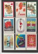 LOT DE 11 CALENDRIERS PETITS FORMATS -U.R.S.S  ANNEE 1980  - JEUX OLYMPIQUES DE MOSCOU - Calendars