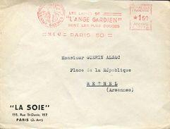 27009 France, Red Meter/freistempel/ema/1942 Paris,les Laines De L'ange Gardien Sont Les Plus Douces ,circuled Cover - Postmark Collection (Covers)