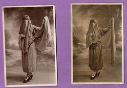 Carte Photo Baldomar Paris Jeune Femme Costume Les 2 Cartes - Photos