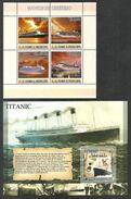ST THOMAS AND PRINCE 2007 SHIPS LINERS TITANIC SET OF 2 M/SHEETS MNH - Sao Tome And Principe