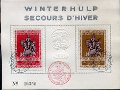 27014 Belgique, Fdc 1943 Winterhulp,secours D'hiver, St. Martin,  Special Fdc Card As Scan - ....-1951