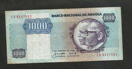 ANGOLA - BANCO NACIONAL De ANGOLA - 1000 KWANZAS (1984) - Angola