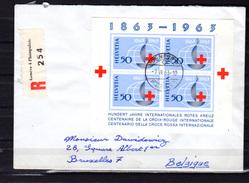 1963, FDC, 100 Ans De La Croix-Rouge Internationale Sur Lettre Recommandée De Genève Vers Bruxelles - FDC