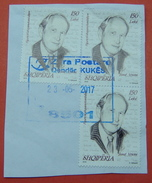 23 - 5 - 2017 ALBANIAN STAMPS, FAMOUS ALBANIANS JUSUF VRIONI  Postmark KUKES - Albania