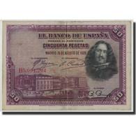 Espagne, 50 Pesetas, 1928, KM:75b, 1928-08-15, TB - 50 Pesetas