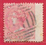 Maurice N°34 4p Rose (filigrane CC, Dentelé 14) 1863-70 O - Mauritius (...-1967)