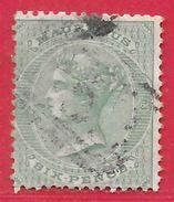 Maurice N°36 6p Vert (filigrane CC, Dentelé 14) 1863-70 O - Mauritius (...-1967)