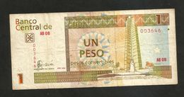 CUBA - BANCO NATIONAL De CUBA - 1 PESO CONVERTIBLE (2006) - Cuba