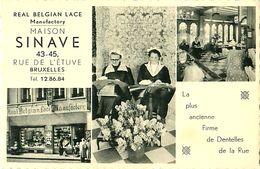 Cpsm BRUXELLES - Maison SINAVE  Rue De L' Etuve - Firme De Dentelles - Real Belgian Lace Manufactory - België