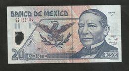MEXICO - El BANCO De MEXICO - 20 PESOS (2001) - JUAREZ / Serie J - Messico