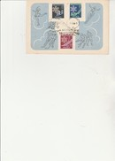 POLOGNE- PETIT ENCART AFFRANCHIE N° 852 A 854  OBLITERATION  11 E CHAMPIONNAT SPORTS D'HIVER  ETUDIANTE - ZAKOPANE 1956 - FDC