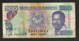 TANZANIA - 500 SHILINGI (1993) - Tanzania
