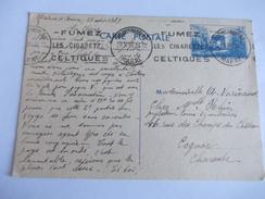 Carte Postale De France à Destination De Charente Cognac 1939 De Chalon Sur Marne - Cognac