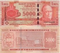 PARAGUAY 5'000 Guaranis  P223c  Dated 2010 - Paraguay