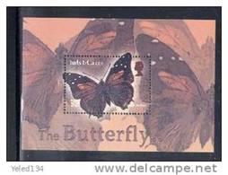 TURKS & CAICOS  ISLANDS  1426 MINT NEVER HINGED SOUVENIR SHEET OF BUTTERFLIES - Papillons