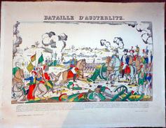 NAPOLEON  BATAILLEDE WAGRAM  GRANDE GRAVURE IMAGE D'EPINAL COLOREE A L'EPOQUE VERS 1920 TABLEAU A ENCADRER - Documents