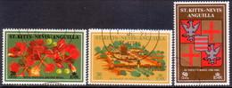 ST KITTS-NEVIS 1971 SG #241-43 Used Phillipe De Poincy - St.Christopher-Nevis-Anguilla (...-1980)