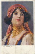 Tziganes Roms Gypsies Gitans Beautiful Woman By C.V. Muttich Born In Nymburk Used From Bulgaria - Europe