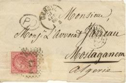 ALGERIE  Lettre D'Italie Adressée à Mostaganem De Aout 66 (cachet Consulat De France Au Dos) - Postmark Collection (Covers)