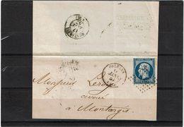 CTN52 - FRANCE NAPOLEON III ND TYPE II 20c LSC ORLEANS16/1/1857 - 1853-1860 Napoléon III.