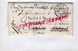 87 - LIMOGES- LETTRE JULES DUFRESNE ENTREPOT DES MARIS PARIS 1857-NOUALHIER MANUFACTURIER A CORDELAS DEPUTE-CLERMONTCACH - Marcophilie (Lettres)