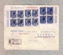 """ITALIA 1957 - Busta Viaggiata Con 3 Quartine Della """"Siracusana"""" Da 15 L. Di Colori Diversi - Unificato 767 - 6. 1946-.. Repubblica"""