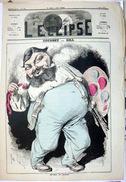 GUSTAVE COURBET 25 BESANCON CARICATURE DU PEINTRE PAR  ANDRE  GILL JOURNAL L'ECLIPSE  JUILLET 1870 - Documents