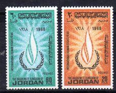 XP3384 - GIORDANIA JORDAN 1968 , Yvert Serie N. 576/577 ***  MNH - Giordania