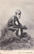 ABORIGENE Faisant Du Feu. Carte Très RARE - Aborigènes