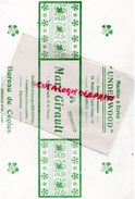 87-LIMOGES- TRES RARE BUVARD MARC GIRAULT -STENOGRAPHE DE PRESSE MACHINE A ECRIRE UNDERWOOD-23 BD LOUIS BLANC-BRUNSVIGA - Bank & Insurance