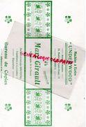 87-LIMOGES- TRES RARE BUVARD MARC GIRAULT -STENOGRAPHE DE PRESSE MACHINE A ECRIRE UNDERWOOD-23 BD LOUIS BLANC-BRUNSVIGA - Banque & Assurance