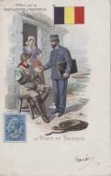 Poste Et Facteurs - Histoire - Belgique Facteur Marin - Chocolat Aiguebelle - Drapeau - Postal Services