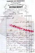 87-LIMOGES- LETTRE MANUSCRITE SIGNEE PEYRICHOUT-FABRIQUE FOURRURES AU ROI DE PERSE-88 BD SEBASTOPOL-1870-SAINT LEONARD - France
