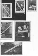 1918 Photos De L'infirmier Américain Ralph B.Hays En Compagnie D'une Femme Et De Son Chien Mascotte 6 Photos Us Army Ww1 - War, Military
