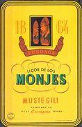 878 F - Espagne - Catalogne - Etiquette Ancienne - Licor De Los Monjes - Musté Gili - Reus - Tarragona - Etiquettes
