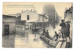 PARIS (cpa 75)  Le XV° Arrondissement Inondé, Le Service Des Canots établi Par Le Génie Rue De Javel -   - L 1 - Arrondissement: 15
